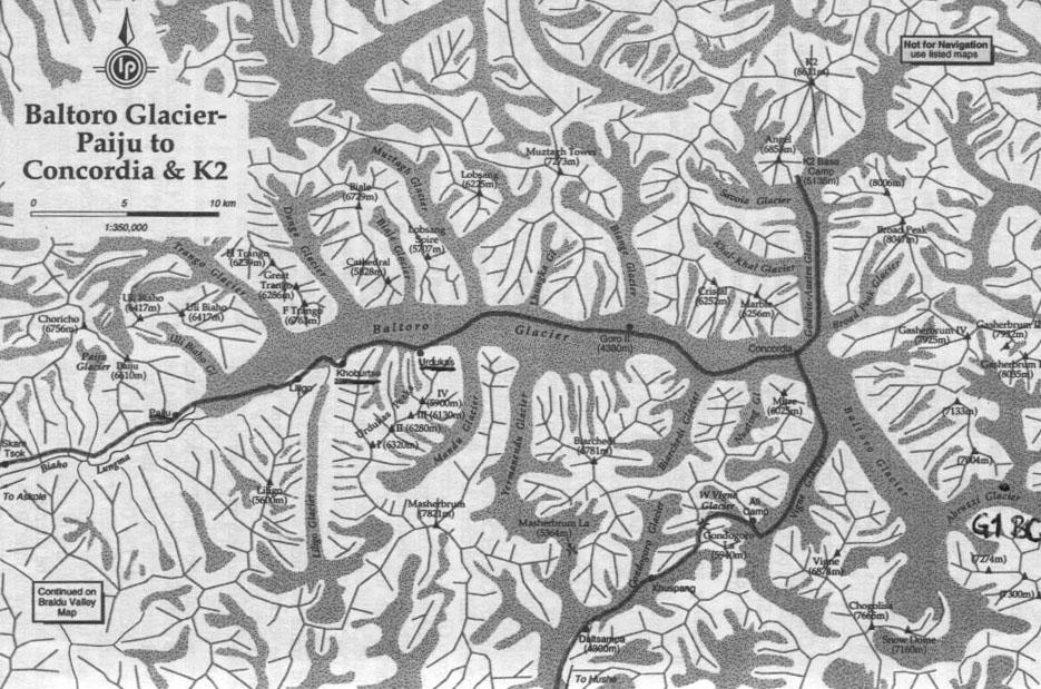 Mapra Narodowej Letniej Wyprawy Fotograficznej pod K2