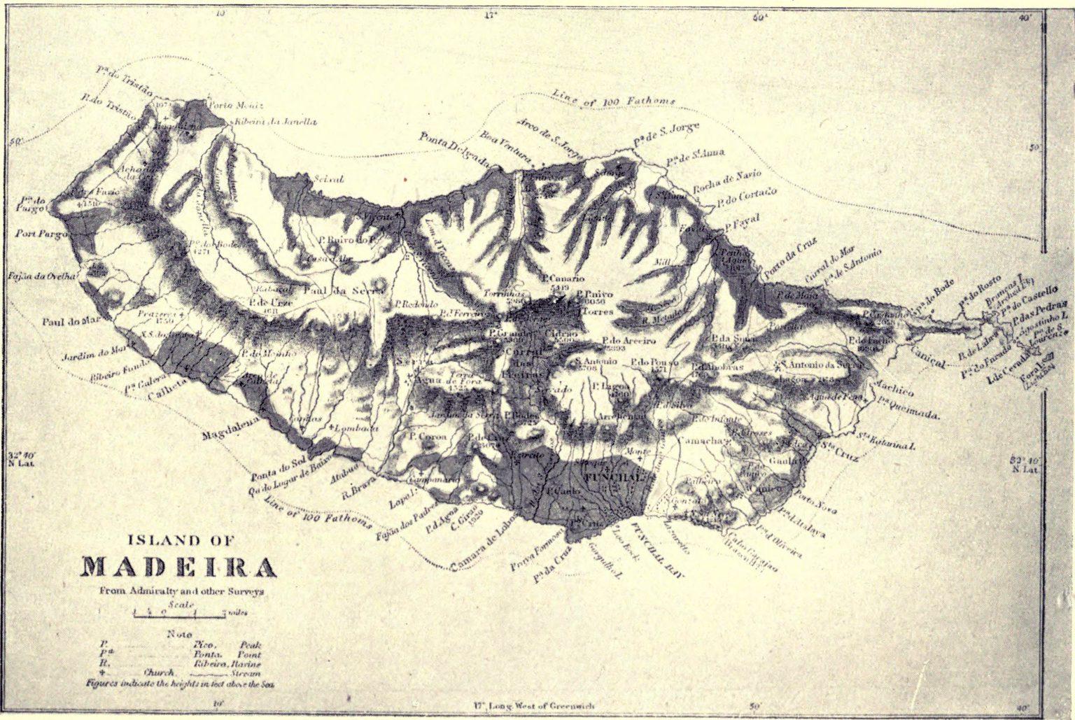 Stara mapa Madery